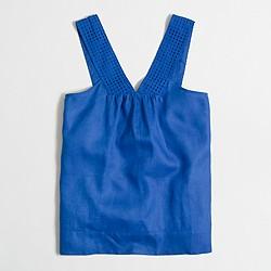 Factory V-neck shell top