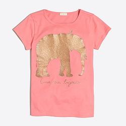 Girls' glitter elephant keepsake T-shirt