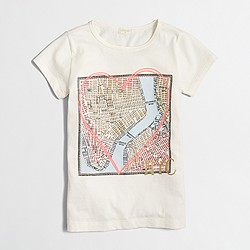 Factory girls' NYC map keepsake T-shirt