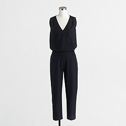 Factory drapey V-neck jumpsuit