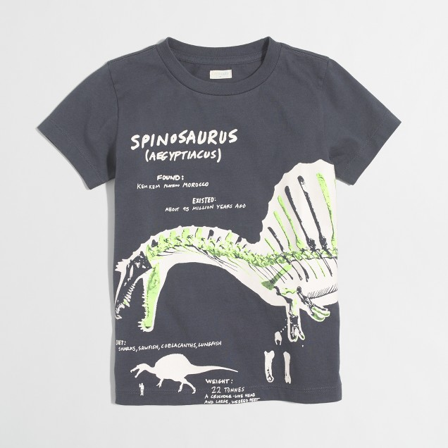 Boys' glow-in-the-dark spinosaurus storybook T-shirt