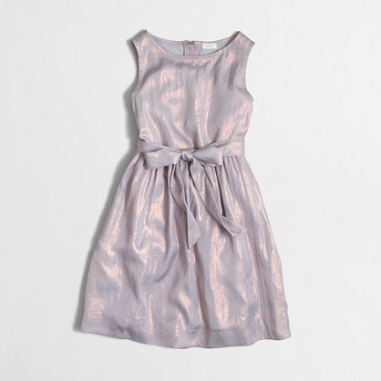 Girls' shimmer dress