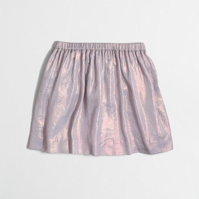 Girls' shimmer skirt