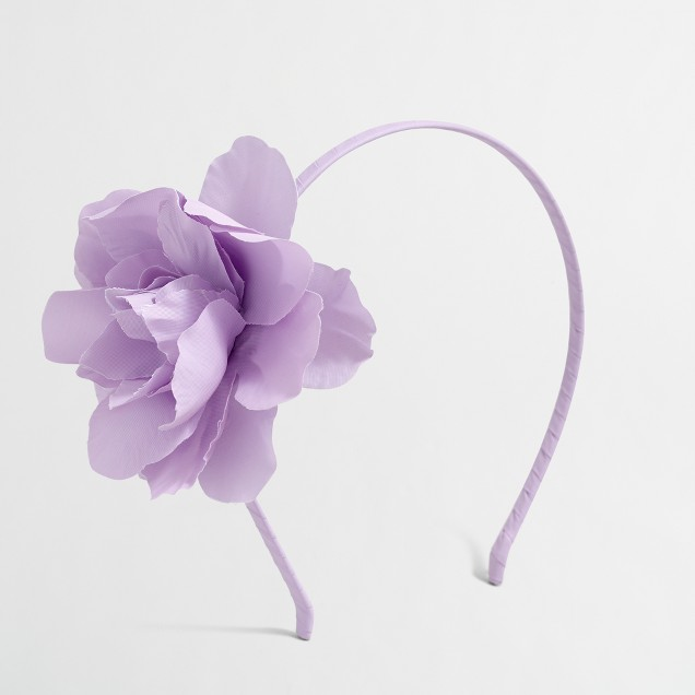 Girls' giant flower headband