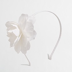 Factory girls' giant flower headband