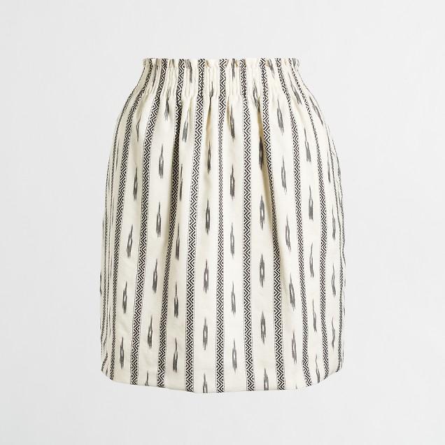 Ikat sidewalk skirt