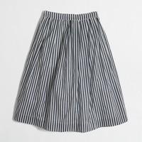 Striped flounce skirt