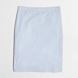 Factory seersucker pencil skirt