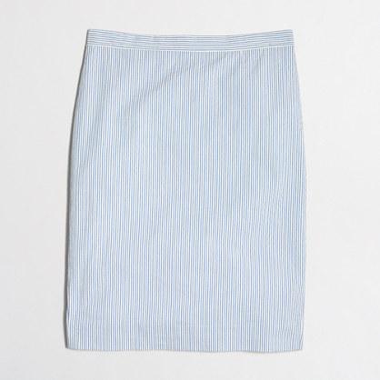 Petite seersucker pencil skirt