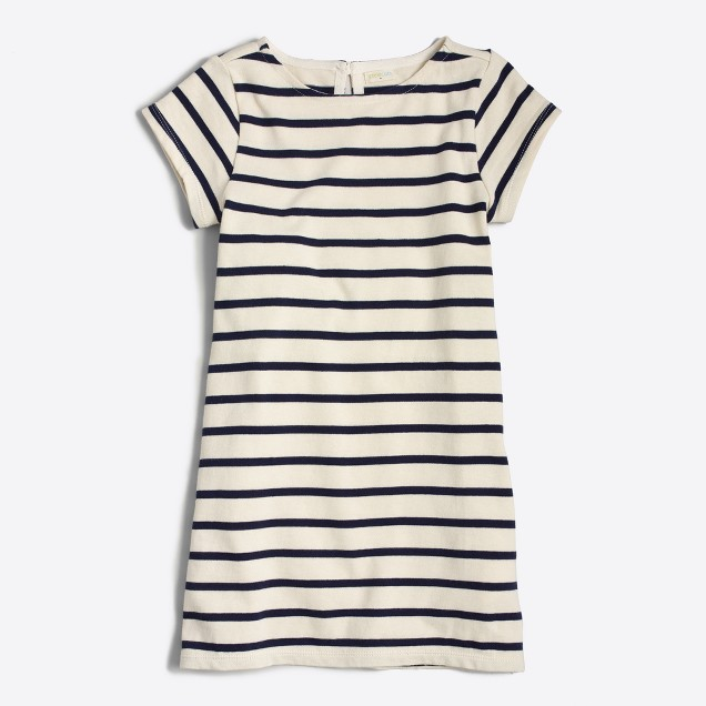 Girls' striped dress