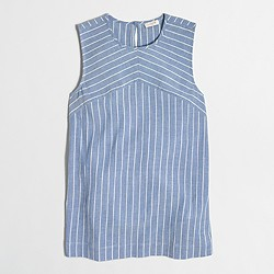 Factory striped keyhole tank top