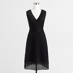 Factory striped eyelet dress