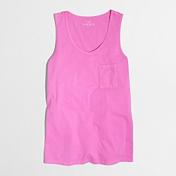 Factory neon sunwashed garment-dyed tank top