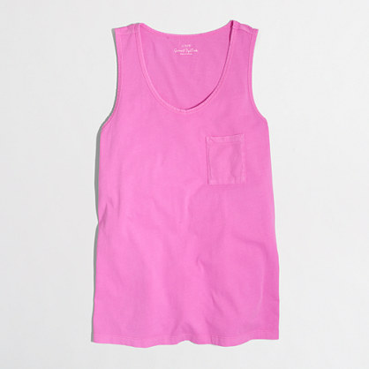 Neon sunwashed garment-dyed tank top