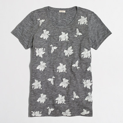 Embroidered flowers collector T-shirt