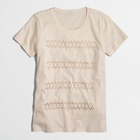 Jeweled stripe collector T-shirt