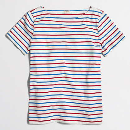 Ladder-striped T-shirt