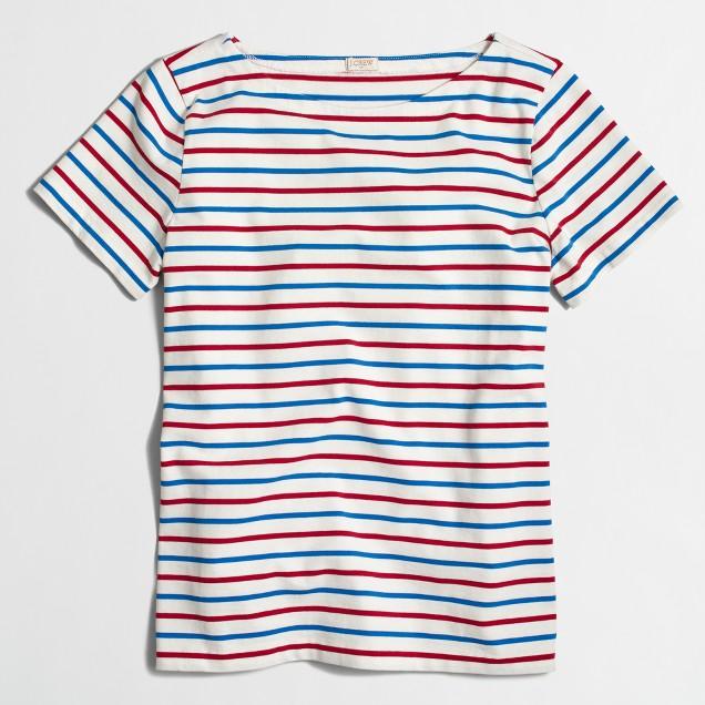 Ladder-striped T-shirt