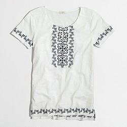 Factory cross stitch tunic T-shirt