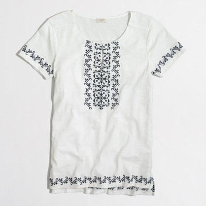 Cross stitch tunic T-shirt