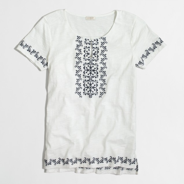 Cross stitch tunic T-shirt