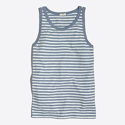 Factory striped classic tank top