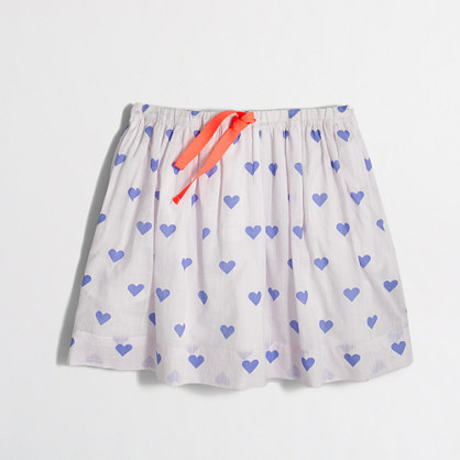 Girls' printed drawstring skirt