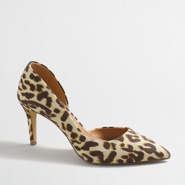 Leopard d'Orsay pumps