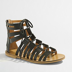 Factory lace-up gladiator sandals