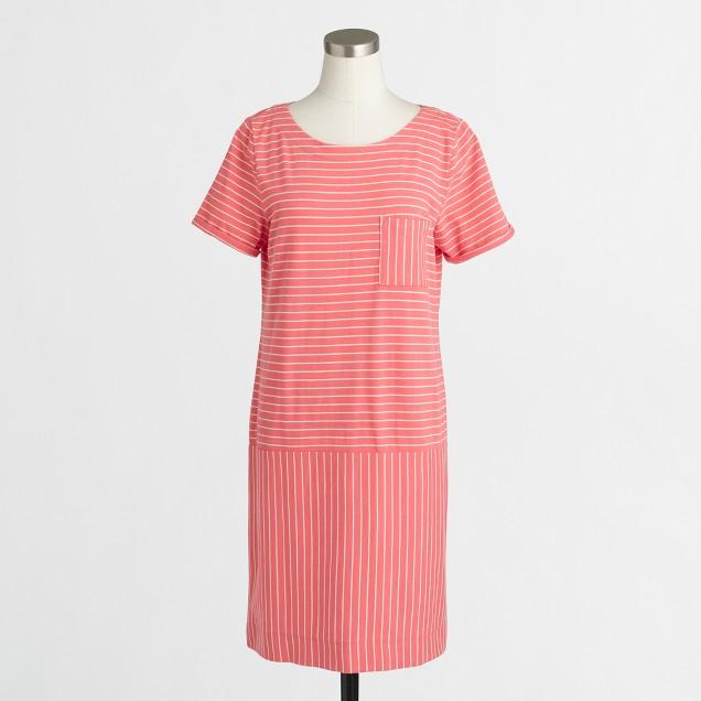 Striped knit pocket dress