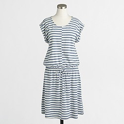 Factory striped heathered drawstring dress