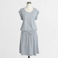 Striped heathered drawstring dress