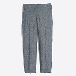 Factory cotton-linen chambray skimmer pant