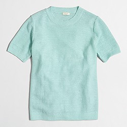 Factory short-sleeve linen sweater
