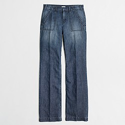 Factory wide-leg denim trouser