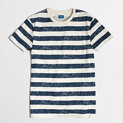 Factory slim distressed stripe T-shirt