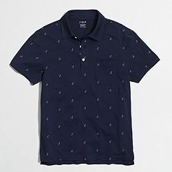 Factory anchor jersey polo shirt