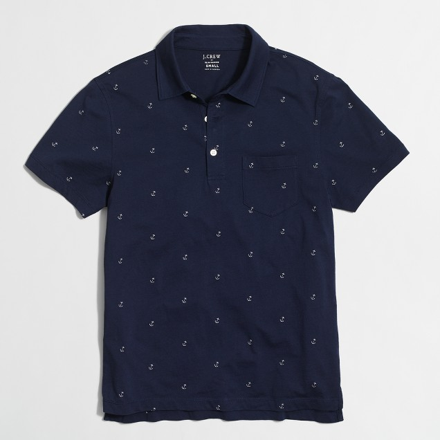 Anchor jersey polo shirt