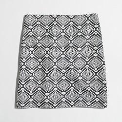 Factory diamond jacquard mini skirt
