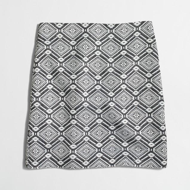 Diamond jacquard mini skirt