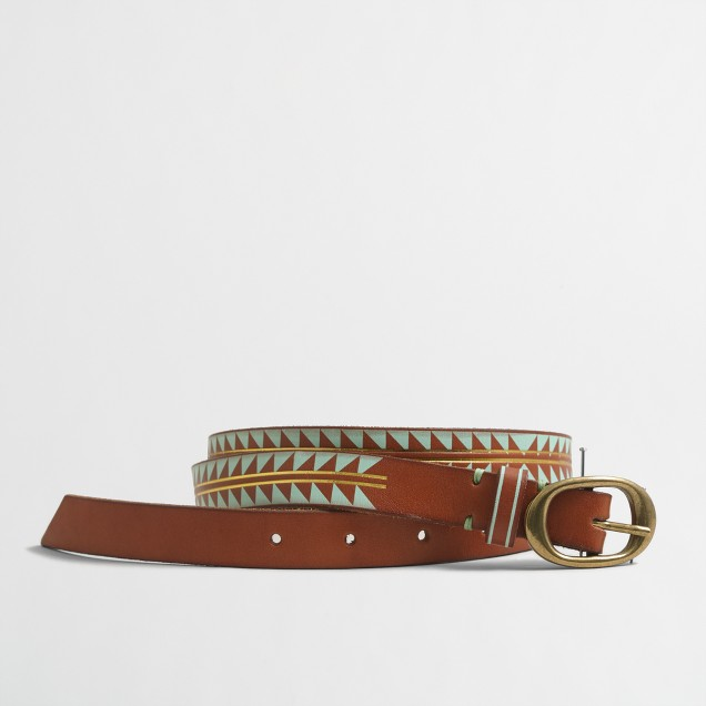 Geo leather belt