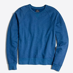 Lightweight twill crewneck sweatshirt