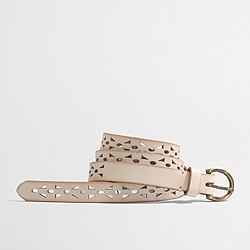 Factory perforated leather belt