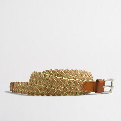 Woven cork belt