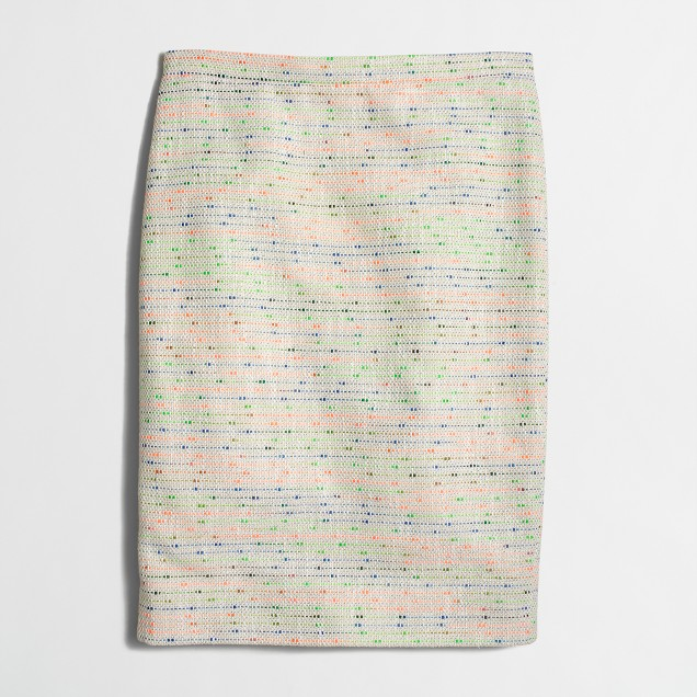 Confetti tweed pencil skirt