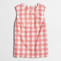 Factory gingham shell top