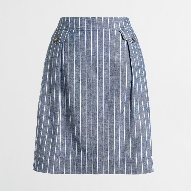 Linen-cotton pocket skirt