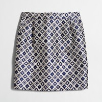Geo jacquard mini skirt
