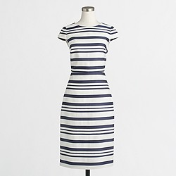 Factory striped cap-sleeve dress