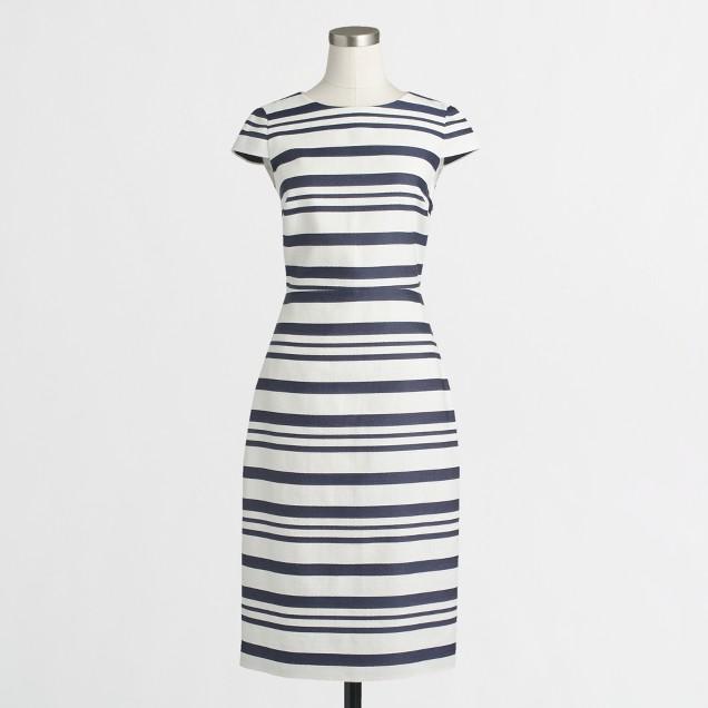 Striped cap-sleeve dress